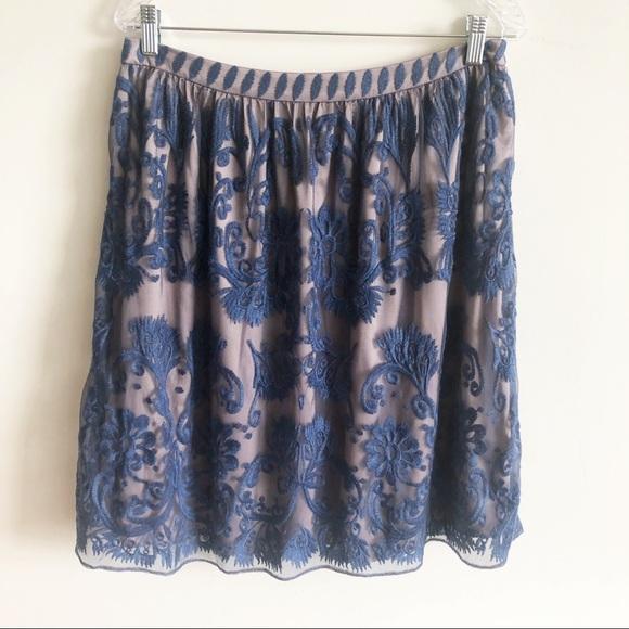 Sundance Dresses & Skirts - Sundance Blue Lace Knee Length Midi Skirt 12